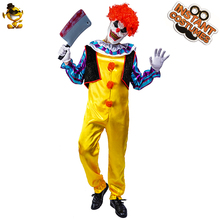 Purim Adult Pennywise Clown Killer Clown Costume Cosplay  Colorful Clown for Men Halloween Costumes halloween costumes clown dressed up acting cute nose red