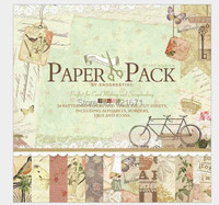 2015 24 Sheets Set 12 Inch Agreeable Life Decorative Gift Wrapping Book Kit DIY Scrapbooking Paper