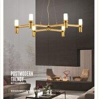 Modern Led Pendant Light For Lobby Dining Room flower Arts Deco lighting AC85 265V G9 suspension luminaire Pendant Lamp 6 lights