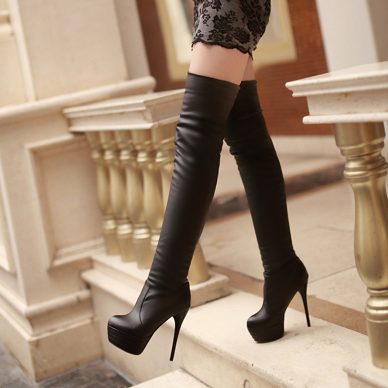 womens thigh high boots for woman sexy black over the knee