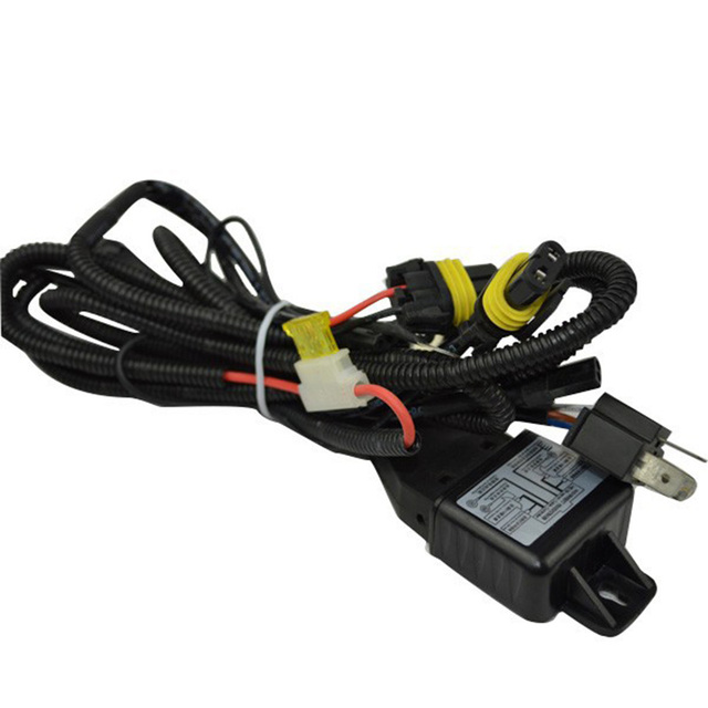 US $7.89 10% OFF|Wire Harness for Car HID Headlight Bulbs Bi xenon on