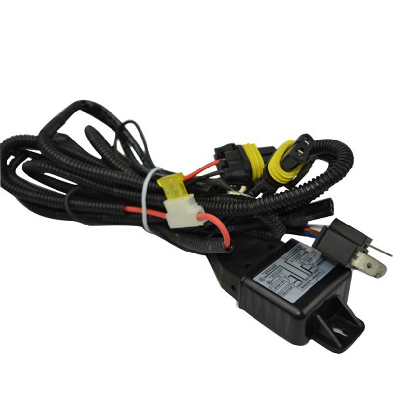 Wire Harness for Car HID Headlight Bulbs Bi-xenon H4 Hi Lo Conversion Kit H4 Hi/lo HID Lamp Relay Harness Wiring Harness Kit