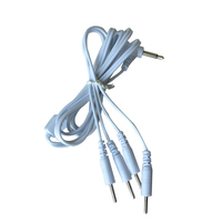 50Pcs Lot Electrode Wires Cables Connecting Tens Therapy Machine Pad 3 5mm Plug Body Massage For