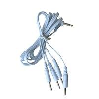 50 Sztuk/partia Kable Łączące Przewody Elektrod Tens Terapii Maszyna Podkładka 3.5mm Plug Ciała Masaż Dla Elektrycznych Urządzeń Cyfrowych