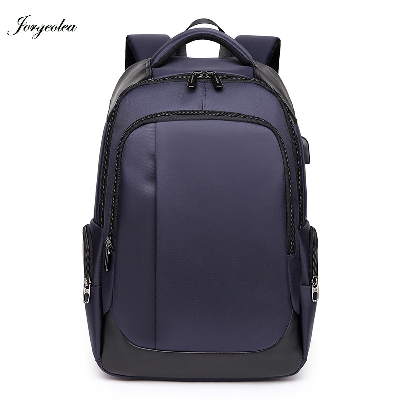 Jorgeolea Men Durable Business Shoulders Bag USB Chargable Leisure Backpack Student Scho ...