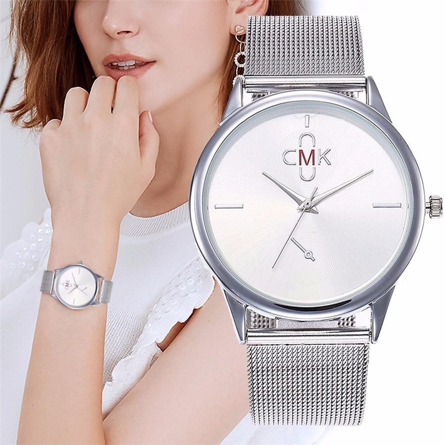CMK Watches Ultra Thin Steel Mesh Belt Watch Fashion Casual Women Dress Watch Ladies Dress Wristwatches Relogio Feminino Наручные часы