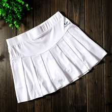 Женская теннисная юбка плиссированная Спортивная Болельщица дышащая юбка для девочек юбки для бадминтона с безопасными шортами
