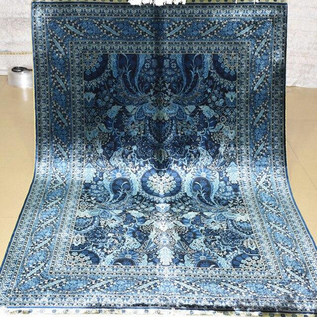 Teppich Blau Viskose