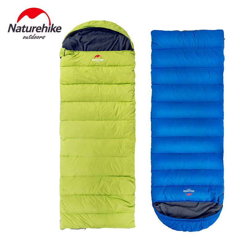 Naturehike New Arrival Envelope Sleeping Bag Camping sleeping bags down feather Blue Green Orange 1700G цена 2016