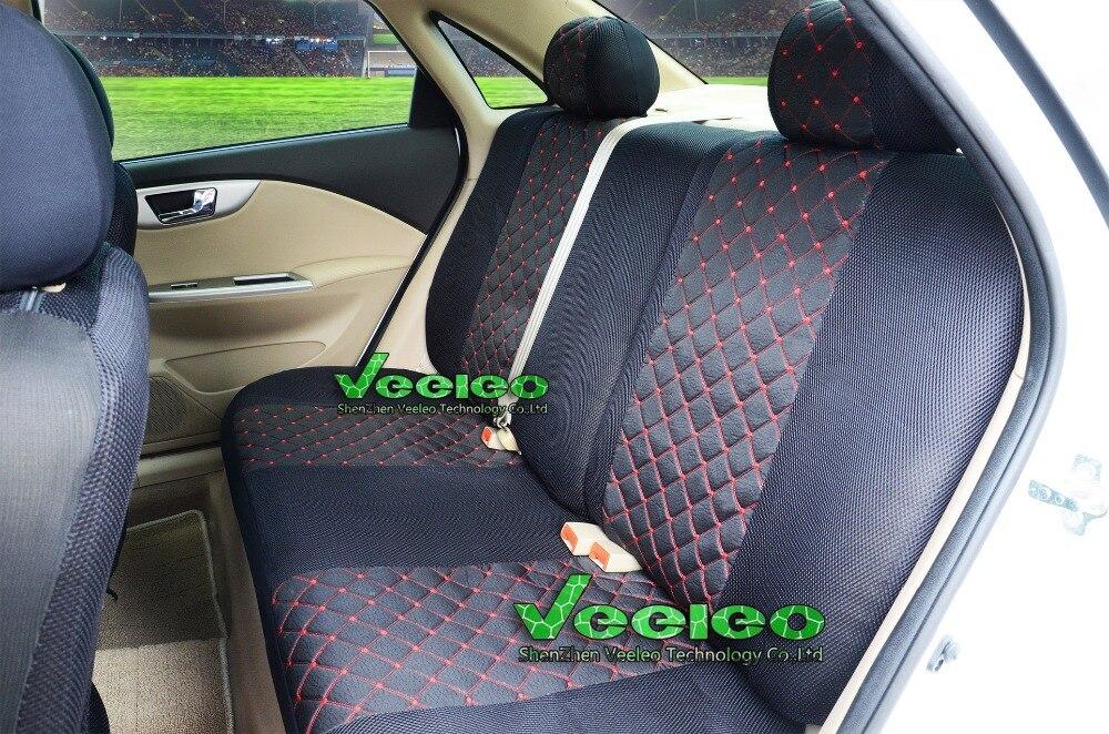 Efecto negro 3d fundas para asientos para daihatsu materia asiento del coche delante de referencia