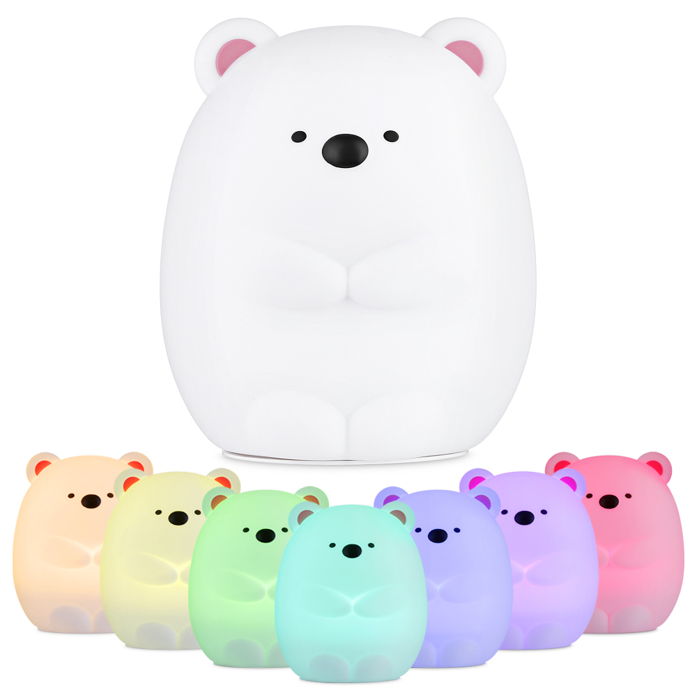 Hot Sale Touch Sensor Silicone LED Colorful Bear Night Light Rechargeable Tap Control For Bedroom Living RoomHot Sale Touch Sensor Silicone LED Colorful Bear Night Light Rechargeable Tap Control For Bedroom Living Room
