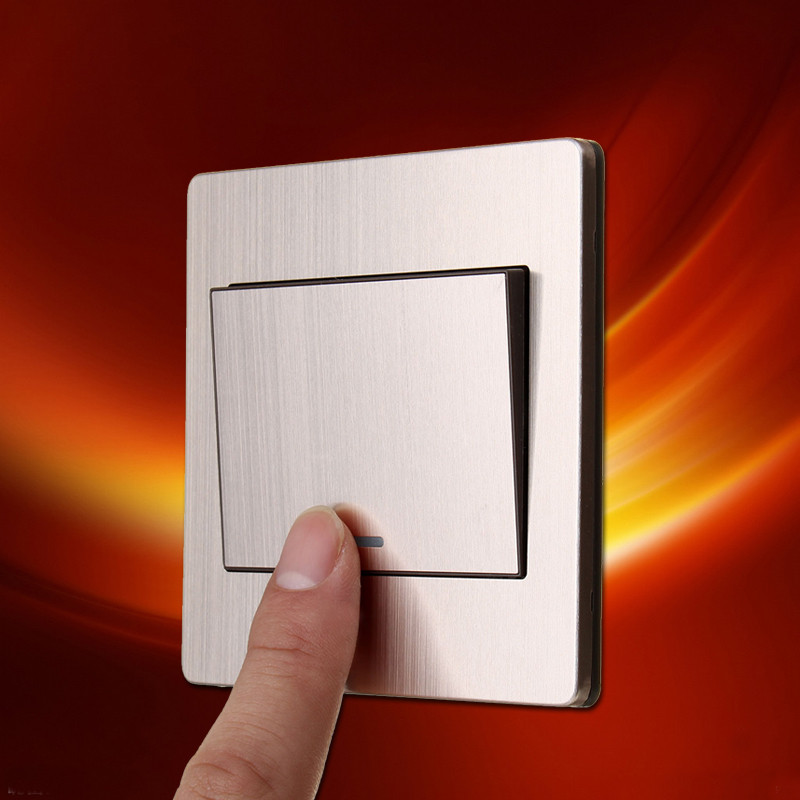 Switch Face Plate Beauteous Aliexpress  Buy 1Pcs Building Material Luxurious Brushed Inspiration