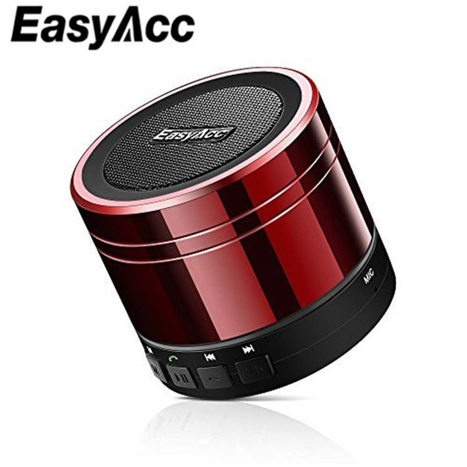 Easyacc Outdoor Wireless Bluetooth 4.0 3W Speaker Music Box Portable Rechargeable Microphone with micro-SD Cards & FM Radio