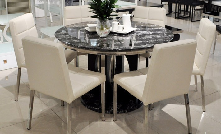 Modern round dining table-in Dining Tables from Furniture on ...