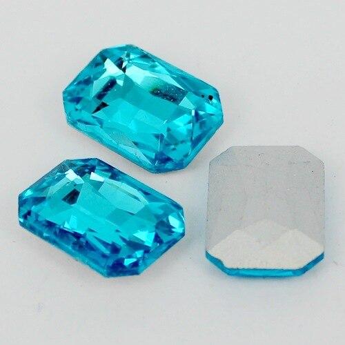 Aquamarine Rectangle Octagon Shape Crystal Glass Fancy Stones For Diy Jewelry dress 8*10mm,10*14mm,13*18mm,18*25mm,18*27mm