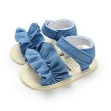 Летние детские сандалии для девочек; обувь принцессы с бантом в горошек для новорожденных девочек; хлопковые сандалии для маленьких девочек
