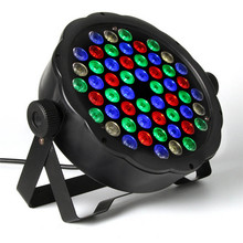 DMX Stage Light 90-120W Disco 54LED RGB LED Flat Par Color Mixing DJ Wash Uplighting KTV Ball