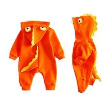 À capuchon Bébé Costume À Manches Longues Coton Barboteuses Bébé Filles Garçons Vêtements Requin Dents Décor Nouveau-Né Infantile Combinaisons Ropa de Bebes