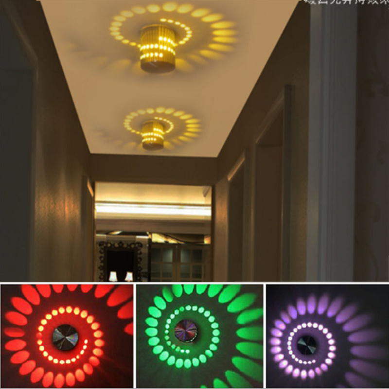 100% True Wall Lamp Led Multi-purpose Colorful Creative Modern Ceiling Lamp Aisle Light Indoor Lighting For Corridor Bedroom Ktv Durable In Use Ceiling Lights
