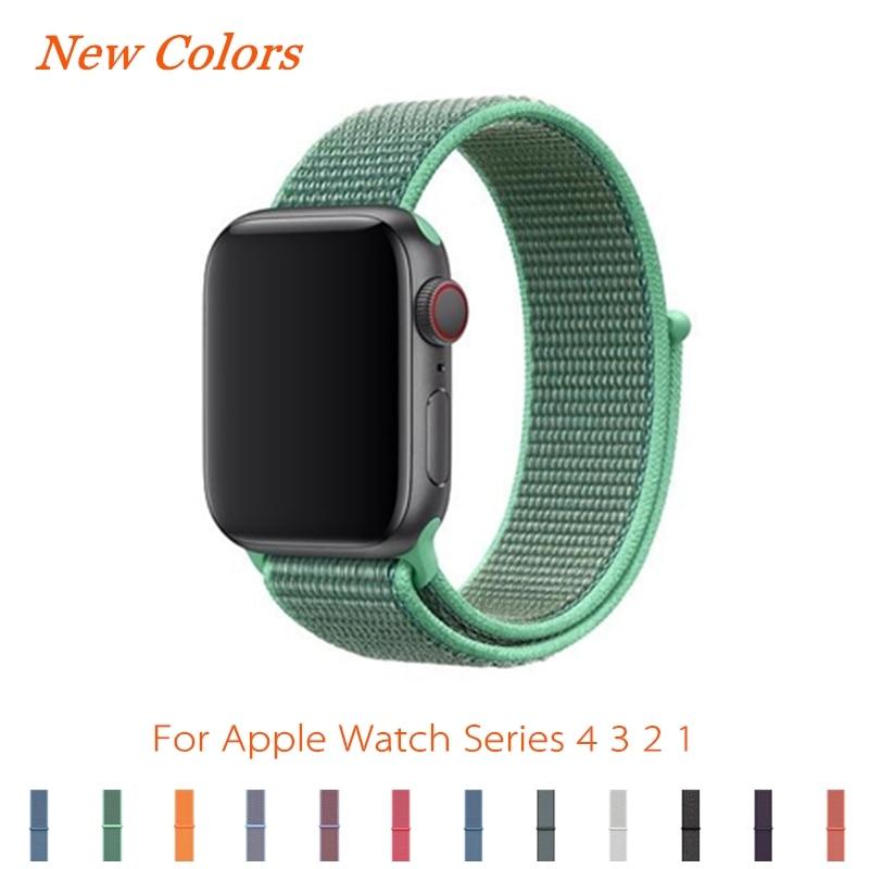Konaforen Sport Loop For Apple Watch Band Strap 44mm 40mm 42mm 38mm Woven Nylon IWatch 4/3/2 Wristband Bracelet Breathable Belt