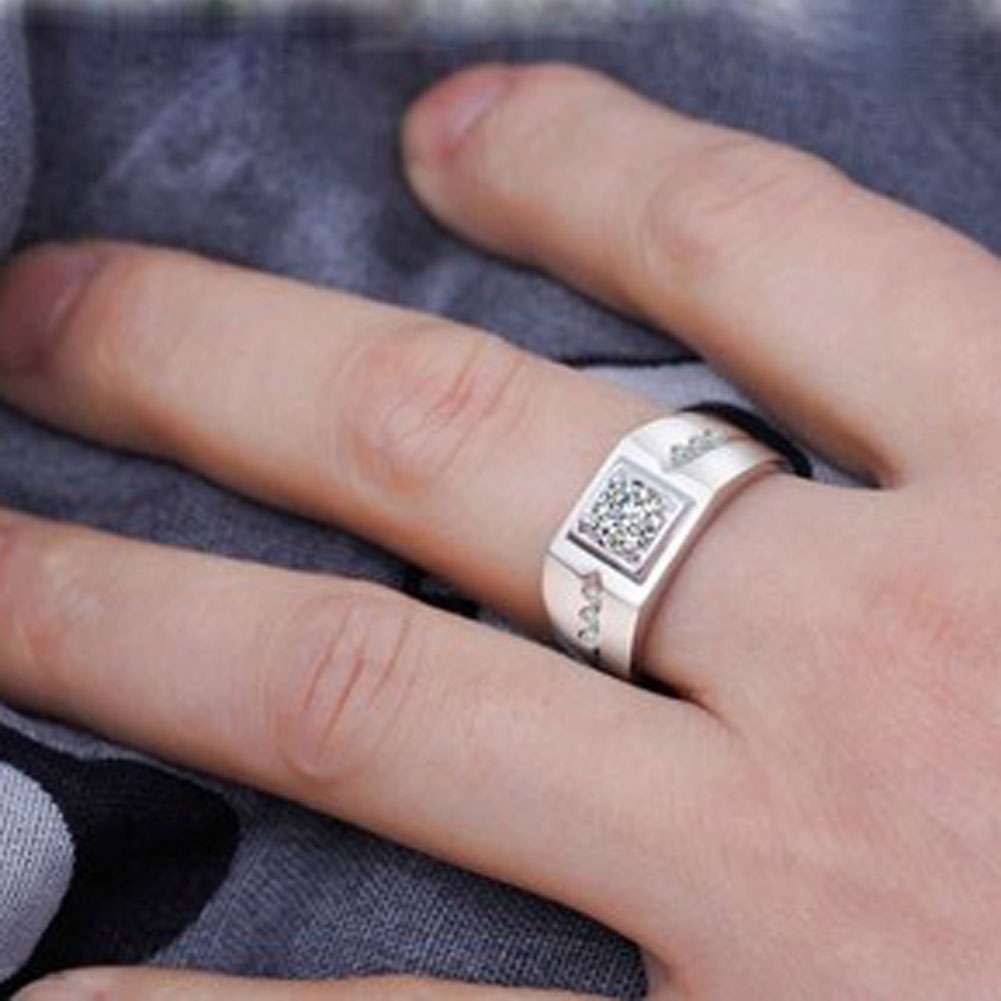 New Fashion Silver Color Ring For Wedding Boss Cool Fashion Male Big ...