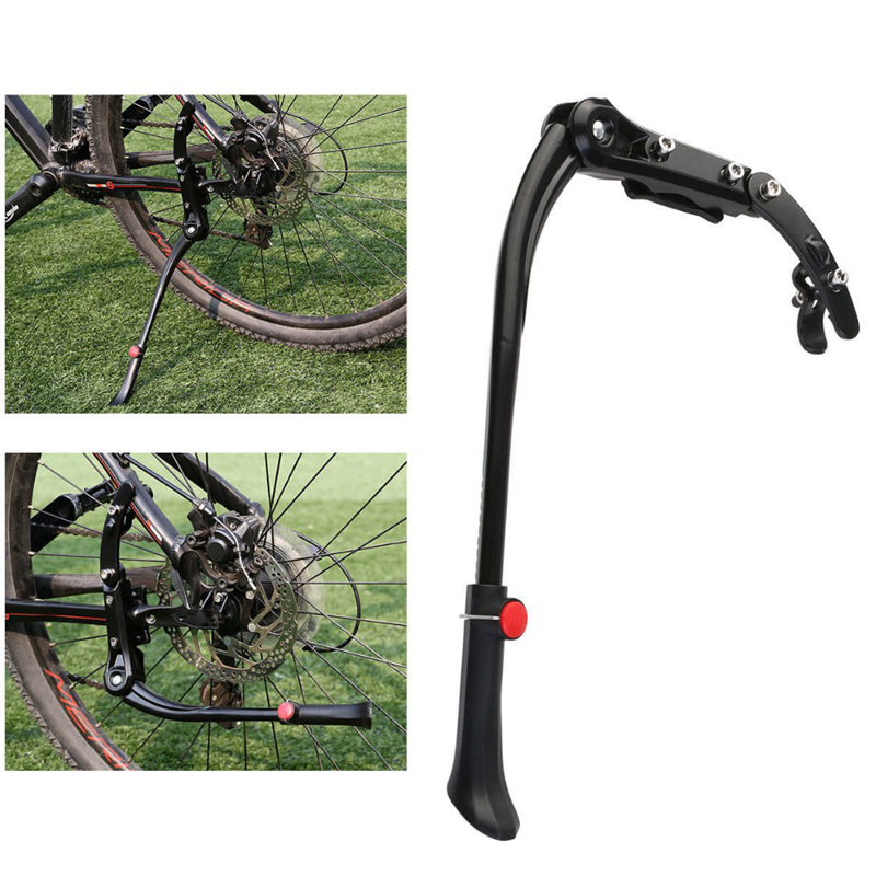 Bike Kickstand Adjustable Parking Racks Mountain Bicycle Side Stand Support Aluminum Alloy Cycling Part For 24'-29'MTB HT19-0021
