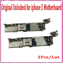 16gb Original Unlocked for iphone 5 Motherboard,100% Good Working for iphone 5 5g Mainboard with Chips,3Pcs/Lot Free Shipping