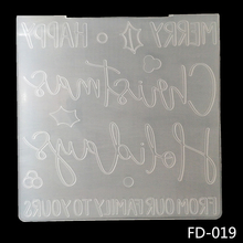 ZhuoAng Holiday blessing Embossing Folder for Scrapbook DIY Album Card Tool Plastic Template