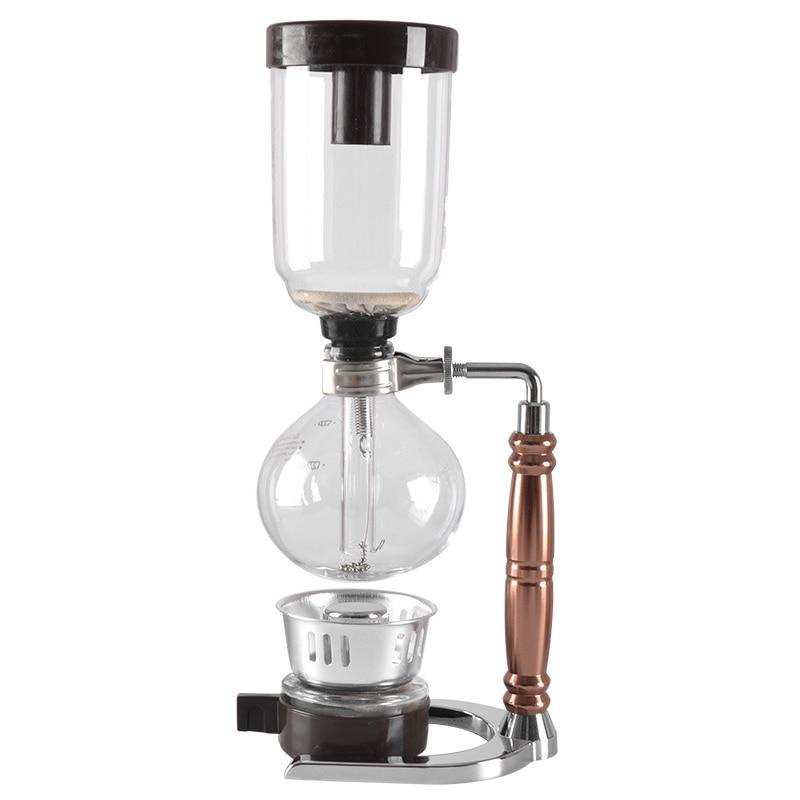 Japanese Style Siphon coffee maker Tea Siphon pot vacuum coffeemaker glass type coffee machine filter kahve makinas 3cup