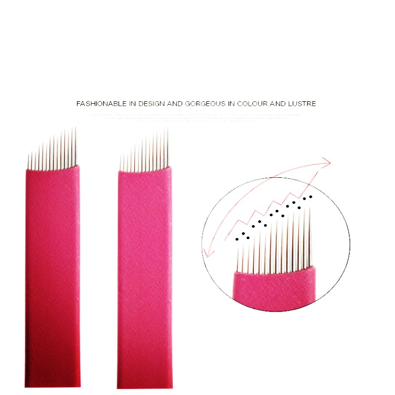 14 pins Tattoo Needles Permanent Makeup Eyebrow Embroidery Blade For 3D Microblading Manual Tattoo Pen