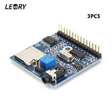 Leroy 3 unids reproducción de voz módulo MP3 recordatorio para Arduino DC5V 1A MP3 voz apoyo MP3/WAV 16 GB TF para DIY