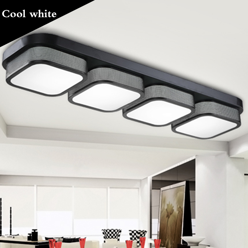 Black/White Modern Led Ceiling Lights For Living Room Bedroom 95-265V Indoor lighting Ceiling Lamp Fixture luminaria teto black or white rectangle living room bedroom modern led ceiling lights white color square rings study room ceiling lamp fixtures