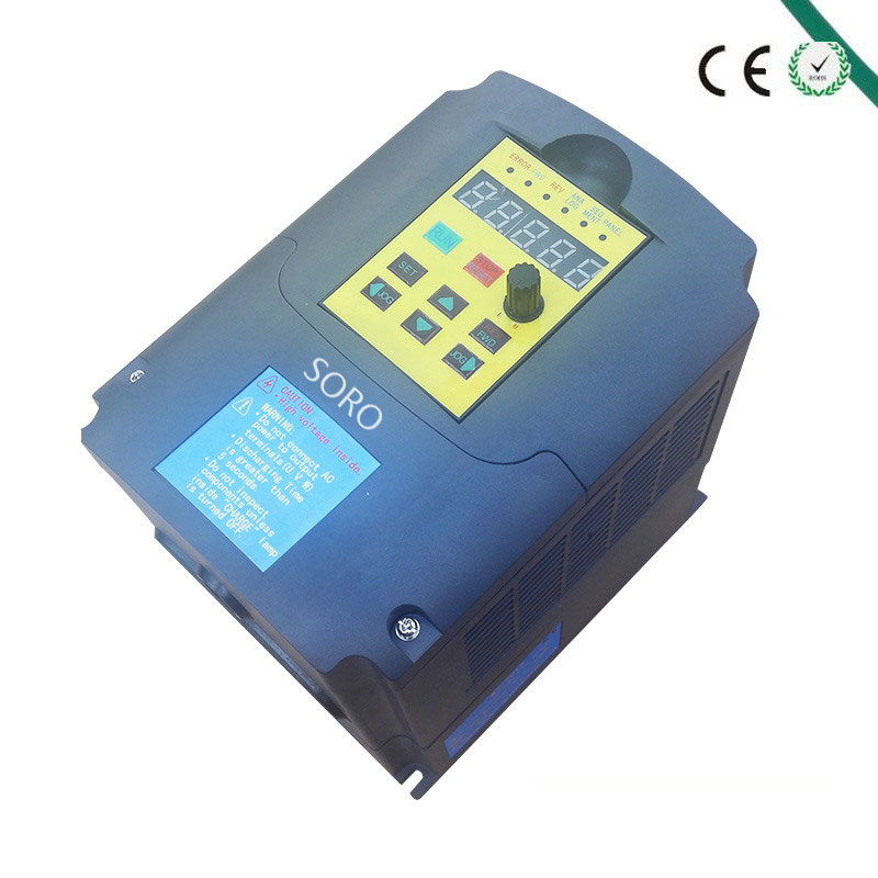 4kw 220v single phase input 380v 3 phase output AC Frequency Inverter & Converter ac drives /frequency converter new original converter vfd004m21a single phase 1phase 220v 0 4kw 0 5hp 0 1 400hz delta