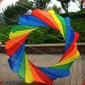 Alta calidad del envío 2 m kite ring hermosa cometas arco iris tais para presente naranja juguete del pájaro exterior kite surf hcxkite