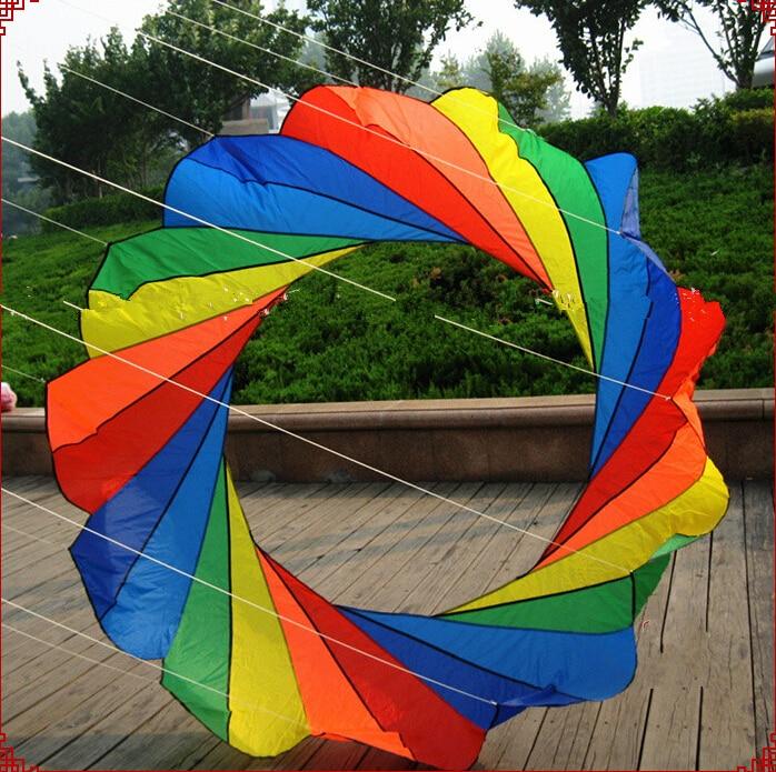 Livraison gratuite haute qualité 2m cerf-volant anneau belle arc-en-ciel cerfs-volants tais pour cadeau orange oiseau jouet en plein air cerf-volant surf hcxkite