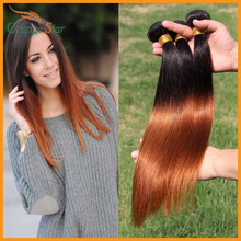 5PCS/Lot Malaysian Virgin Hair Straight Ombre 1b 30 Ombre Virgin Hair Ombre Malaysian Hair Straight Weave Bundle BS521