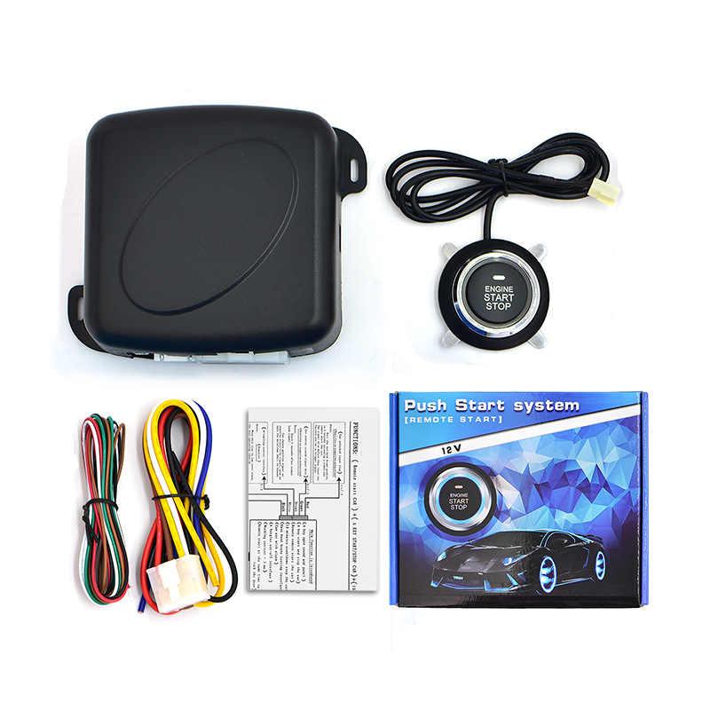 Interrupteur d'allumage RFID système d'entrée sans clé | Alarme de voiture, un démarrage, bouton-poussoir de démarrage du moteur, verrouillage système d'allumage antivol