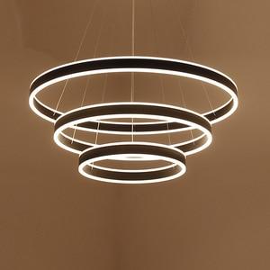 Image 2 - טבעות LED מודרני תליון אורות קבועה לחדר אוכל תליית מנורת בית מסעדה דקור השעיה חדר שינה Luminaire ברק