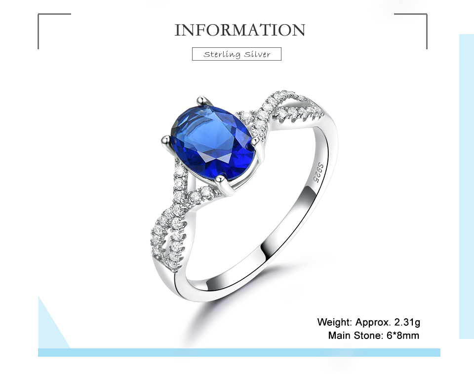 HonyySapphire 925 sterling silver rings for women RUJ099S-1-pc (2)