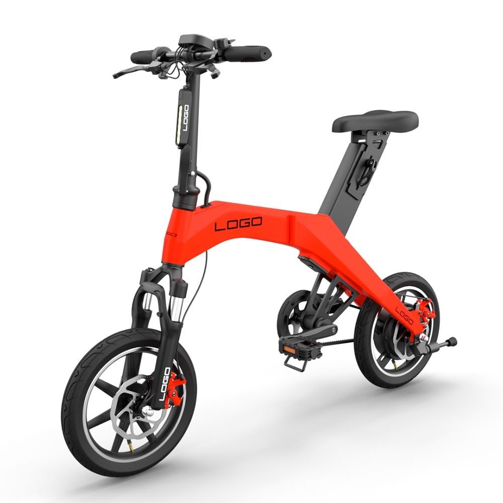 Moto icycle puissant mini pliable électrique scooter électrique ebike bycycle 8AH 14 pouces