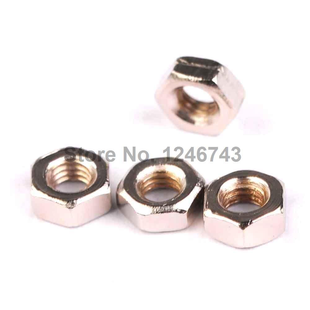 100PCS M3 Nuts M3 Stud Nuts Hex Nuts