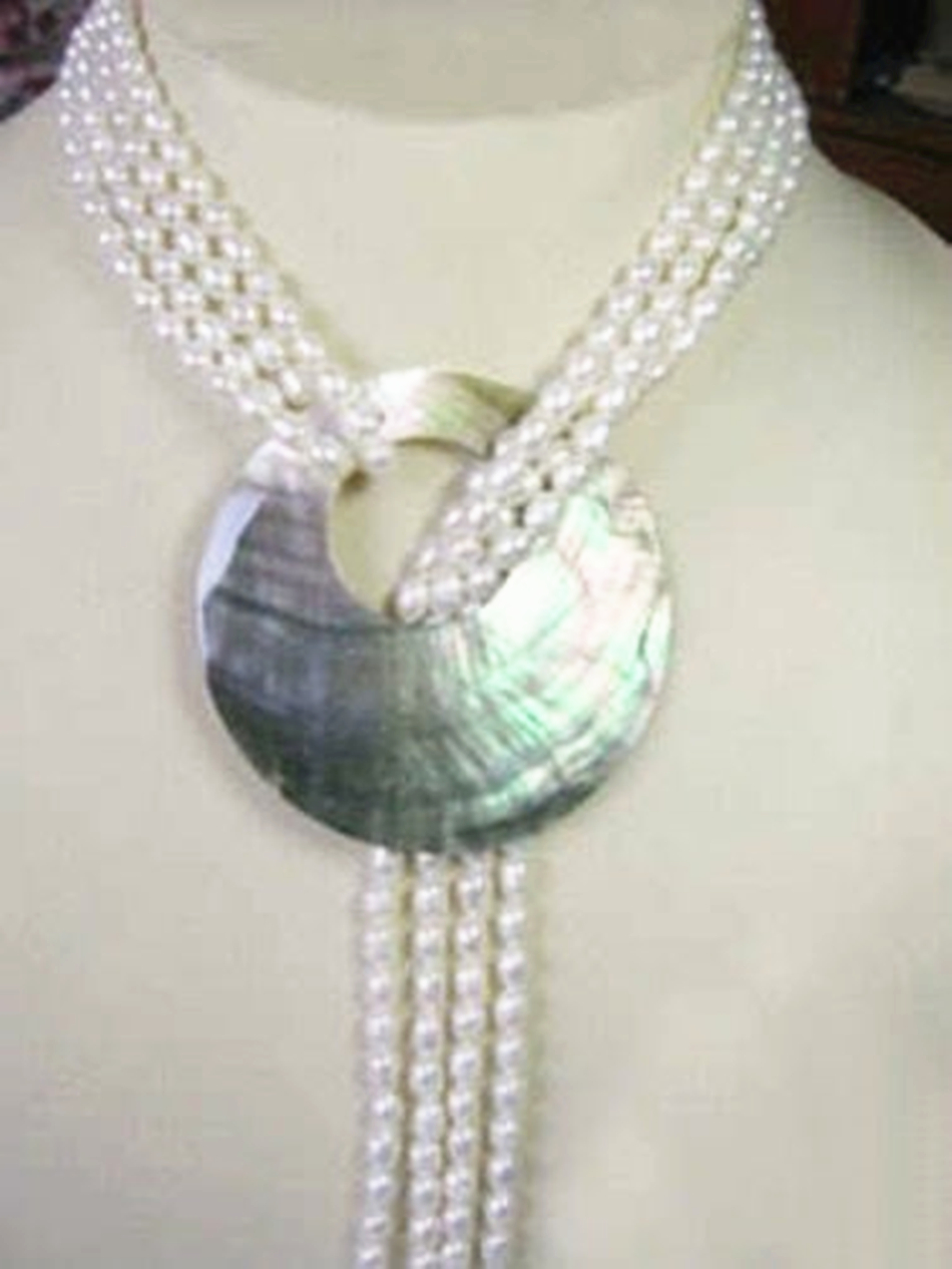 Hot sale 6-7mm natural white pearl freshwater cultured roubd beads high quality fashion women necklace shell pendant 50'' BV376 цена и фото