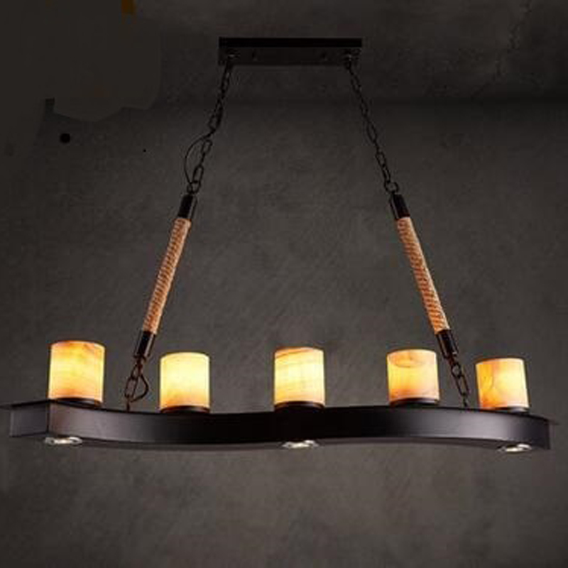 Nordic retro Cafe Bar Iron Pendant Lights marble loft industrial wind Bar Cafe Restaurant pendant lamps LU729326 black cage pendant lamps loft iron lanterns pendant lights retro restaurant bar cafe hone lighting lamp industrial windza