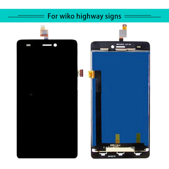 Double 3pcs/lot Complete For Wiko Highway Signs Full LCD Display with Touch Screen Digitizer Assembly Free Shipping