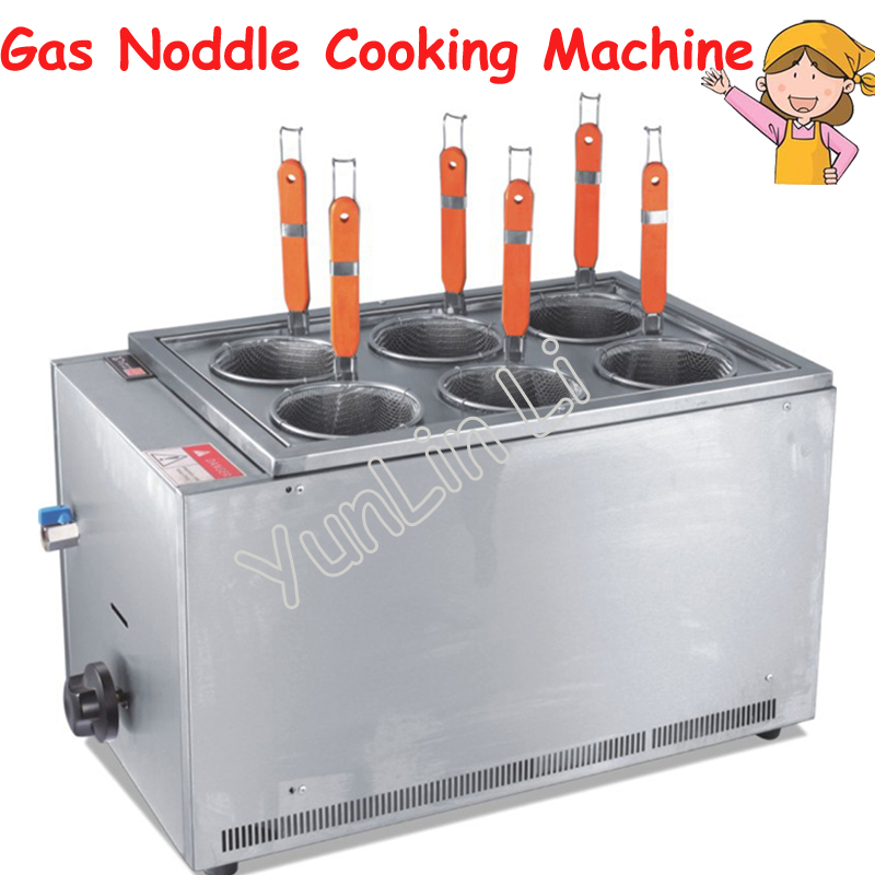 Commercial Gas Bench Cooker Stainless Steel Pasta Cookware Noodle Cooking Machine EH-706 cukyi household electric multi function cooker 220v stainless steel colorful stew cook steam machine 5 in 1