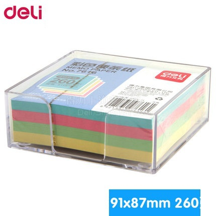 1 pack  diary sticker with transparent plastic box stickers self-adhesive sticky notes 91x87mm each pack is 4 colors Deli 7616 global elementary coursebook with eworkbook pack