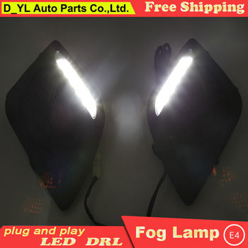 Car Styling Daytime Running Lights for Volvo XC60 LED DRL  Volvo XC60 LED Fog Light Front Lamp Automobile Accessories.