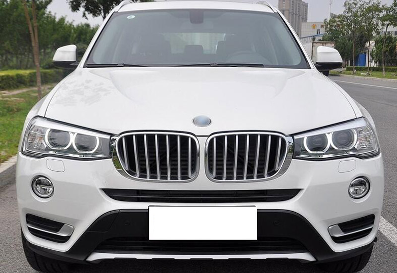 LLKUANG 3 Color Front Grill Cover Trim ABS Chrome Sequin for BMW X3 X4 f25 F26 2011-2017 2011-2017 BMW X3 X4