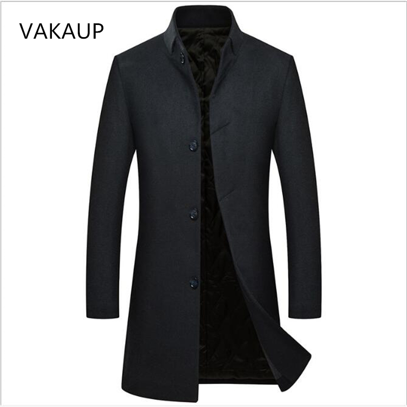 2018 New Winter Woolen Coat Mens Knitted Wool Windbreaker Mens Thickened Woolen Coat Mens Casual Coat Jaket Men