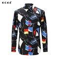 KCAE 2017 New Casual Shirt Hot Mens Dress Shirt Slim Fit Long Sleeve Men Shirts Single Breastd Shirts Plus Size